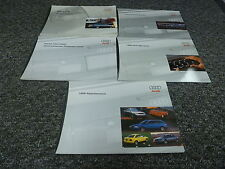 1998 Audi A6 Sedan Original Owner's Owners User Manual Book Set Quattro 2.8L V6