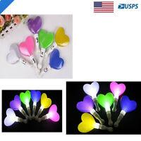 12 PCS Light Up Flashing Heart LED Wands Rally Rave Batons DJ Flashing stick