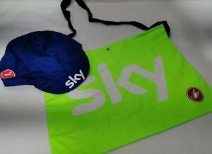 Castelli X Team Sky Team Issue Cycling Cap 🧢 & Castelli Musette Bag Green