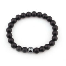 Matte Black Onyx Yoga Energy Beaded Bracelet BOYFRIEND Mens Gift Jewelry