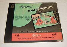 PUCCINI Madama Butterfly RENATA TEBALDI Original 1952 LONDON 3LP BOX Complete