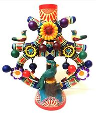 Izucar Ceramic Tree of Life w/Quetzal Mexican Folk Art by Arte Casbal Studio