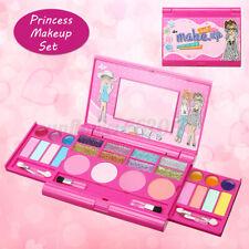 Princess Makeup Set Kit For Kids Girl Eyeshadow Lip Gloss Blushes Beauty Tools #