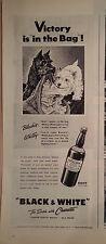 1944 Black & White Scotch Scottish Terriers Scotties Dogs Trash Waste Paper Ad