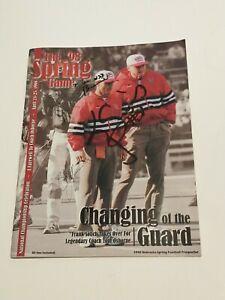 Nebraska Cornhuskers 1998 Spring Game Prospectus Signed Cover w/ 4 Signatures