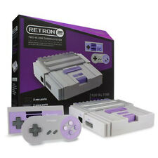 RetroN 2 2in1 Super Nintnedo SNES & NES Retro Video Game Twin Console Grey New