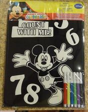 Mickey Mouse Velvet Poster With Markers  New Count With Me