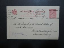 Greece 1920 Postal Card to US Embassy / Staple Holes - Z8686