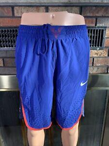 Nike Authentic Team USA Rio Olympics Basketball Men's Shorts Blue Size Small