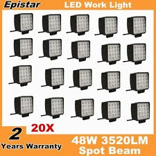 20X 48W Spot Square LED Work Light Bar Driving Lamp Truck Off-road UTE 4WD Jeep