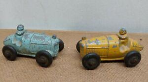 Vintage 1940's M&L Toy Co. Slush Metal Race Cars