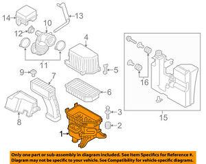 KIA OEM 12-13 Soul Air Cleaner Box-Bottom Lower Housing Body 281122K800