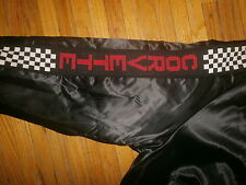 vtg CORVETTE NYLON COAT Jacket Checkered Flag Checkerboard Sleeve Panels 70s 80s