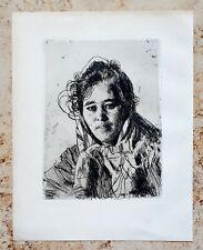 Anders ZORN (1860-1920) Original Radierung ANNA Krakbergs Mädchen aus Mora 1903