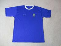 Nike Brazil Soccer Jersey Adult Extra Large Blue White Brasil Futbol Mens