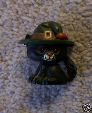 Hallmark Halloween  Vintage BLACK CAT with Green Hat   Lapel  PIN