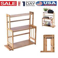 3-Tier Standing Spice Rack Kitchen Bathroom Countertop Organizer Storage Shelf