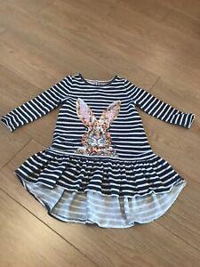 Girls Monsoon Bunny Dress Age 3-4