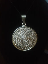 Sterling Silver 925 Aztec calendar  4.5 cm long imported fron Taxco Gurrero MX