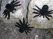 3 Halloween nero spaventoso ragni 7.6cmx10.2cm
