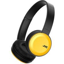 JVC Has30bt Deep Bass Wireless Bluetooth Foldable on Ear Headphones Yellow