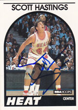 SCOTT HASTINGS MIAMI HEAT SIGNED BASKETBALL CARD HAWKS NUGGETS PISTONS KNICKS