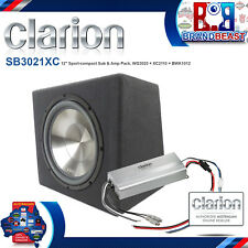 "Clarion SB3022XR 12"" 900w active with amplifier subwoofer car sub + cables"