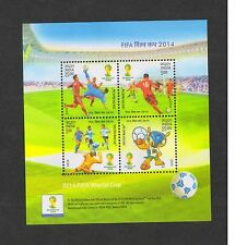 India 2014 Mint Miniature Sheet Stamps FIFA WORLD CUP