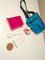 American Girl Doll Mini Lunch Bag Pleasant Co Munchable Spork Cookie Napkin Milk