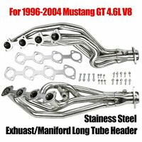 For 1996-04 Mustang GT 4.6L V8 Exhuast/Maniford Stainess Stell Long Tube Header