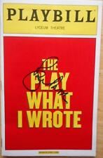 Signed Roger Moore (Only)  Playbill The Play What I Wrote  Sean Foley Toby Jones