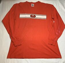 Adidas Vintage Soccer Football Red Long Sleeve T Shirt Large