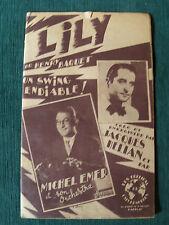 LILY, swing endiablé, Partition de HENRY BAQUET - joué par J HELIAN & M EMER