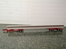"dcp red lowboy beam hauler w/30""beam trailer chrome wheels 1/64 new no box"
