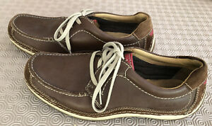 Mens Brown clarks shoes size 8.5 Excellent Condition