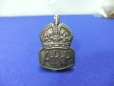 vtg badge arp air raid precautions lapel silver jc jacques cartier ? hallmark