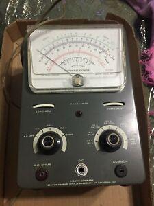 heathkit vacuum tube voltmeter model im-10