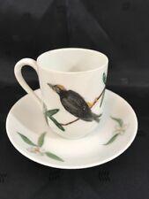 Vintage Epiag Royal Czechoslovakia Trillium & Bird Demitasse Coffee Cup & Saucer