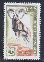 France 1969 MNH Sc 1257 Mi 1683 Mediterranean Mouflon. WWF **