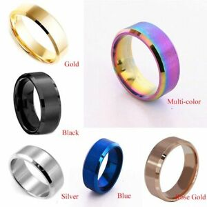 Men New Wedding Valentine Gift Jewelry Titanium Band Stainless Steel Ring