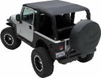 Smittybilt Bikini Top Extended Black Diamond Jeep 97-06 Wrangler TJ