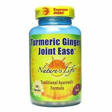 Turmeric & Ginger Joint Ease, 100 Capsules Nature,s life