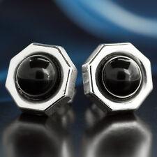 Onyx Silber 925 Ohrringe Damen Schmuck Sterlingsilber S107
