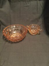 """Pink """"Cubist"""" Bowl  and a pink """"Cubist"""" 2 handled bowl"""