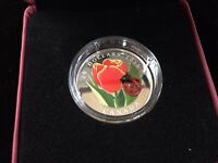 2011 Canadian Mint $20 Fine Silver Coin - Tulip with Ladybug - Sale