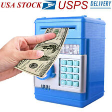 Kids Electronic Piggy Bank ATM Password Money Coin Automatic Safe Saving Box
