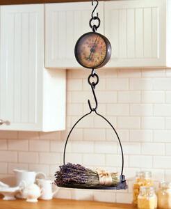Decorative Antique Hanging Farmhouse Scale Rustic Vintage Country Kitchen Decor