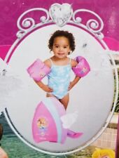 DISNEY LEARN TO SWIM 5 pc. SET Princess Kickboard Water Wings Flippers Ages 2-6