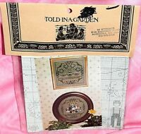 """New Told In A Garden """"Baby & Garden"""" Cross Stitch Chart Amish Family Welcome"""