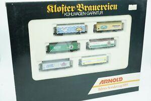 N Arnold 0165 Bierwagen Set 6 Wagen Klosterbrauereien DB OVP gebraucht